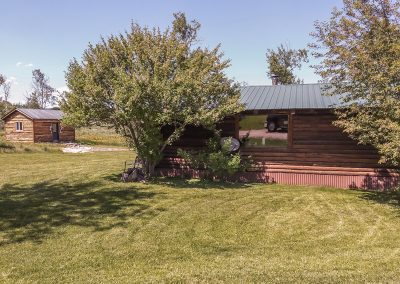 exterior of hunting cabin