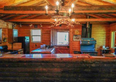 interior of hunting lodge