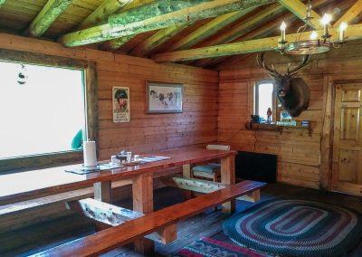 hunting cabin interior