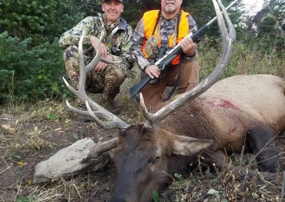 Hunter with his Elk with Vanatta Outfitters