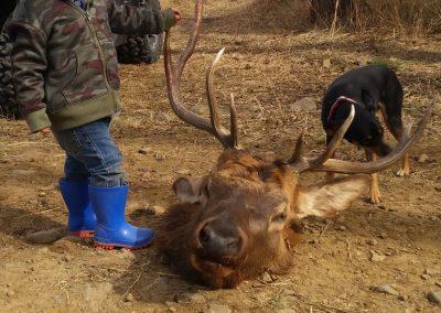 hunters with kill